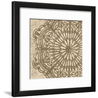 Contemporary Lace VI Spice-Moira Hershey-Framed Art Print