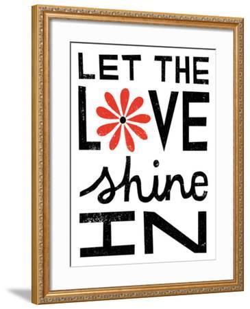 Inspiration Love I Red Flowers-Michael Mullan-Framed Art Print