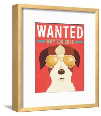 Beach Bums Terrier I Wanted-Michael Mullan-Framed Art Print