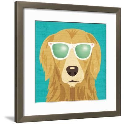 Beach Bums Golden I-Michael Mullan-Framed Art Print