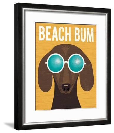 Beach Bums Dachshund I Bum-Michael Mullan-Framed Art Print