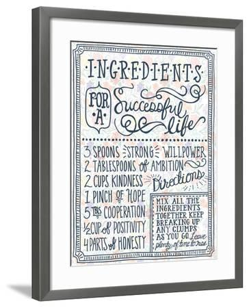 Ingredients For Life Ditzy Floral I-Mary Urban-Framed Art Print