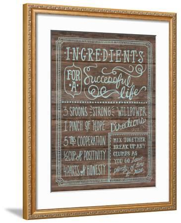 Ingredients For Life I-Mary Urban-Framed Art Print