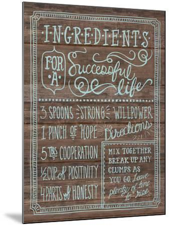 Ingredients For Life I-Mary Urban-Mounted Art Print