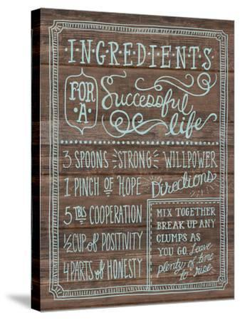 Ingredients For Life I-Mary Urban-Stretched Canvas Print