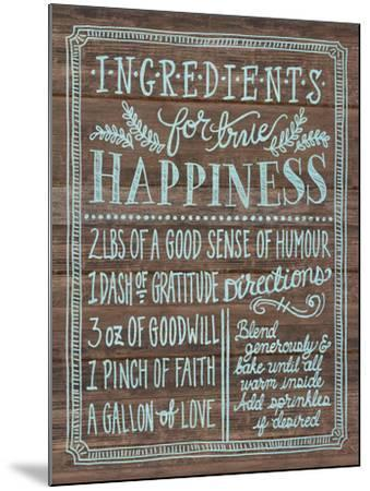 Ingredients For Life II-Mary Urban-Mounted Art Print