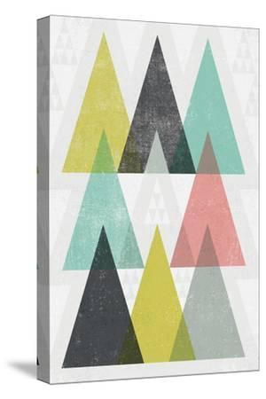 Mod Triangles IV-Michael Mullan-Stretched Canvas Print