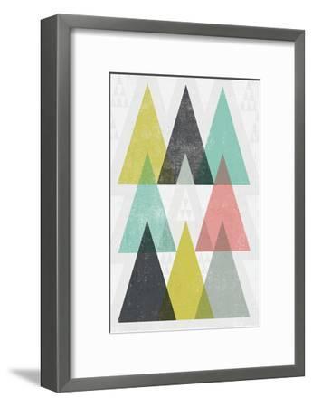 Mod Triangles IV-Michael Mullan-Framed Art Print