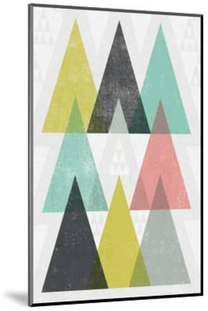 Mod Triangles IV-Michael Mullan-Mounted Art Print