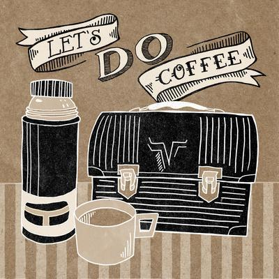 Lets Do Coffee Taupe-Mary Urban-Framed Art Print