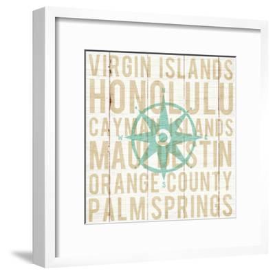 Bon Voyage Compass-Michael Mullan-Framed Art Print