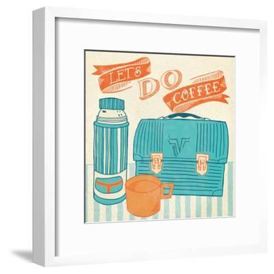 Let's Do Coffee Orange-Mary Urban-Framed Art Print