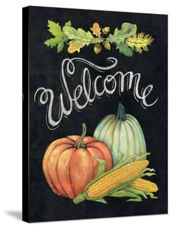 Autumn Harvest II Welcome-Mary Urban-Stretched Canvas Print