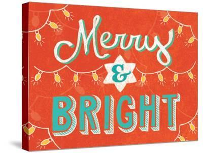 Merry and Bright-Mary Urban-Stretched Canvas Print