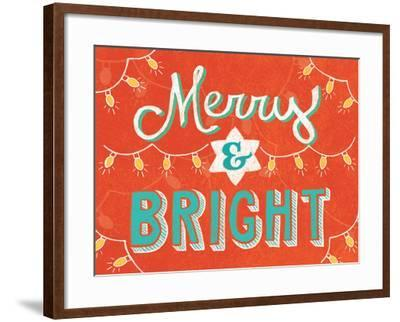 Merry and Bright-Mary Urban-Framed Art Print