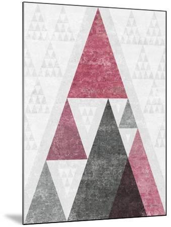 Mod Triangles III Soft Pink-Michael Mullan-Mounted Art Print