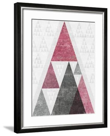 Mod Triangles III Soft Pink-Michael Mullan-Framed Art Print