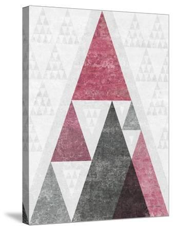 Mod Triangles III Soft Pink-Michael Mullan-Stretched Canvas Print