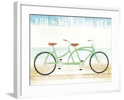 Beach Cruiser Tandem v2-Michael Mullan-Framed Art Print