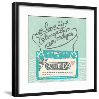 Retro Cassette Gray-Mary Urban-Framed Art Print
