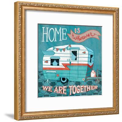 Adventure Love Camper-Mary Urban-Framed Art Print