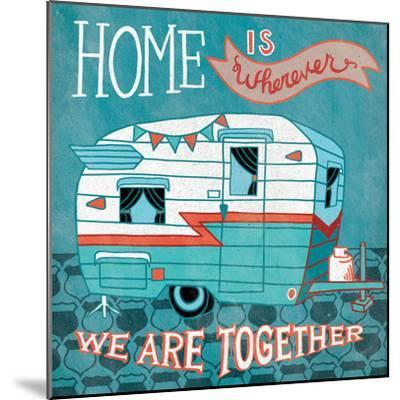 Adventure Love Camper-Mary Urban-Mounted Art Print