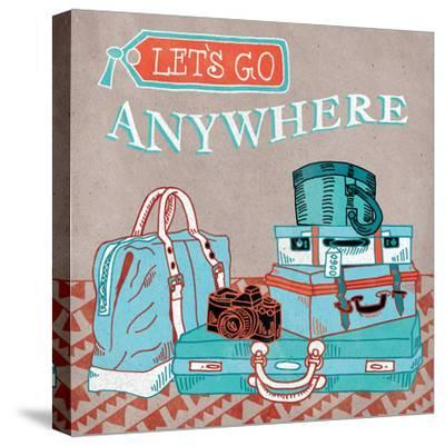 Adventure Love Suitcase-Mary Urban-Stretched Canvas Print