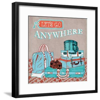 Adventure Love Suitcase-Mary Urban-Framed Art Print