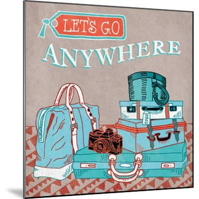 Adventure Love Suitcase-Mary Urban-Mounted Art Print