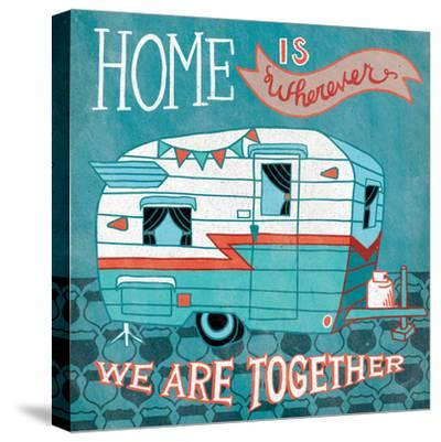 Adventure Love Camper-Mary Urban-Stretched Canvas Print