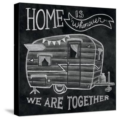 Adventure Love Camper Chalk-Mary Urban-Stretched Canvas Print