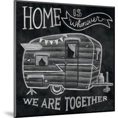 Adventure Love Camper Chalk-Mary Urban-Mounted Art Print