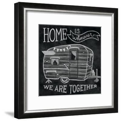 Adventure Love Camper Chalk-Mary Urban-Framed Art Print