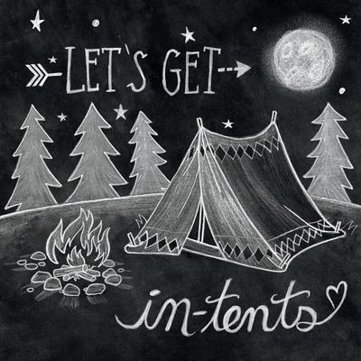 Adventure Love Tent Chalk-Mary Urban-Framed Art Print