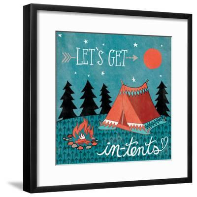 Adventure Love Tent-Mary Urban-Framed Art Print
