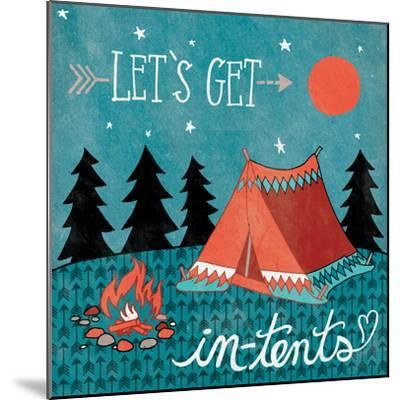 Adventure Love Tent-Mary Urban-Mounted Art Print
