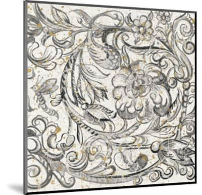 Tudor Rose Gold-Meloushka Designs-Mounted Art Print