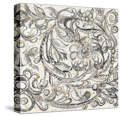 Tudor Rose Gold-Meloushka Designs-Stretched Canvas Print
