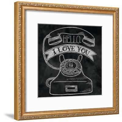 Hello I Love You Chalk-Mary Urban-Framed Art Print