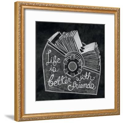 Life is Better Chalk-Mary Urban-Framed Art Print