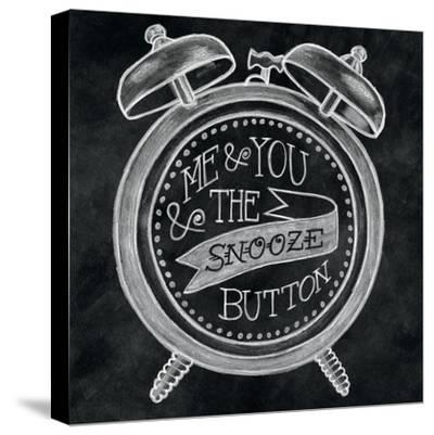 The Snooze Button Chalk-Mary Urban-Stretched Canvas Print