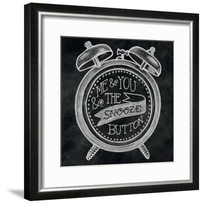 The Snooze Button Chalk-Mary Urban-Framed Art Print