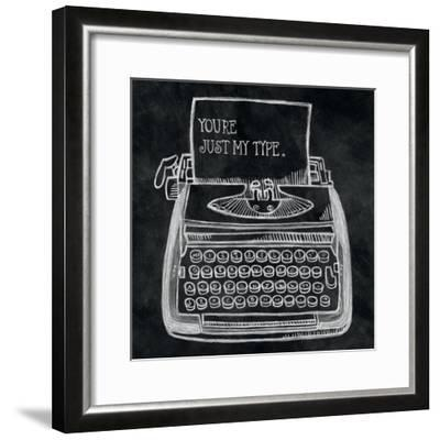 Youre My Type Chalk-Mary Urban-Framed Art Print