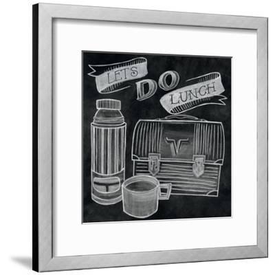 Let's Do Lunch Chalk-Mary Urban-Framed Art Print
