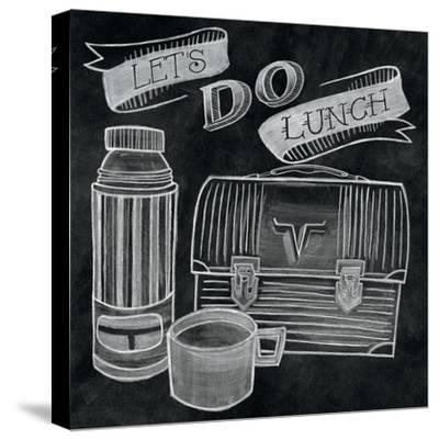 Let's Do Lunch Chalk-Mary Urban-Stretched Canvas Print
