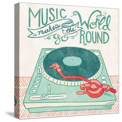 Retro Record Player-Mary Urban-Stretched Canvas Print