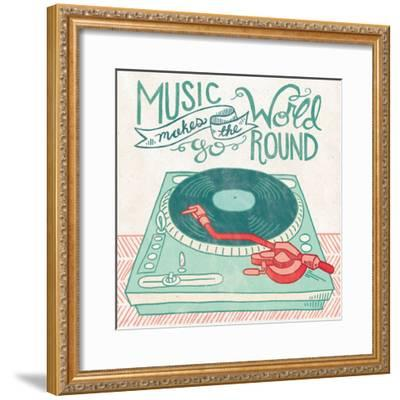 Retro Record Player-Mary Urban-Framed Art Print