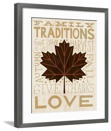 Family Tree Leaf I-Michael Mullan-Framed Art Print