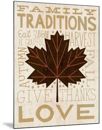 Family Tree Leaf I-Michael Mullan-Mounted Art Print