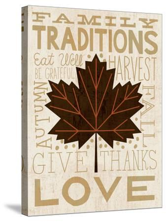 Family Tree Leaf I-Michael Mullan-Stretched Canvas Print
